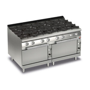 Q70PCF/G1605 Baron 8 Burner Gas Cooktop With 2 Gas Ovens