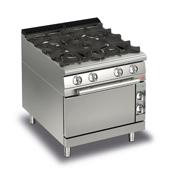 Q70PCF/G8005 Baron 4 Burner Gas Cooktop With Gas Oven