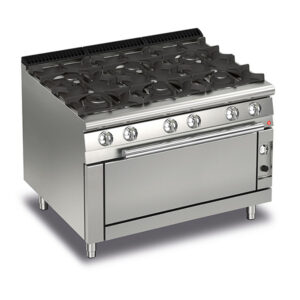 Q70PCFL/G1205 Baron 6 Burner Gas Cooktop With Large Gas Oven