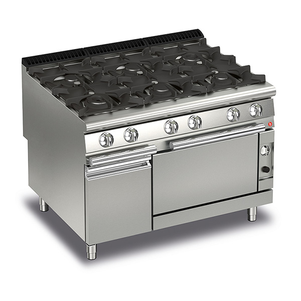 Q90PCF/G1205 Baron 6 Burner Gas Cooktop With Gas Oven