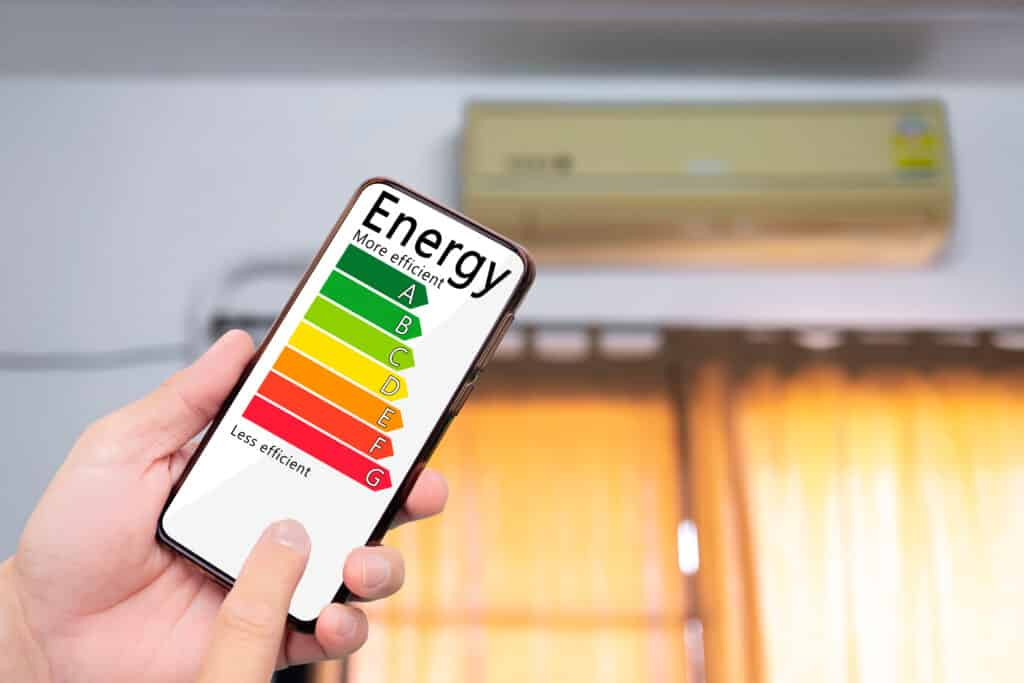WHAT ARE ENERGY RATING LABELS FOR AIR CONDITIONING UNITS?